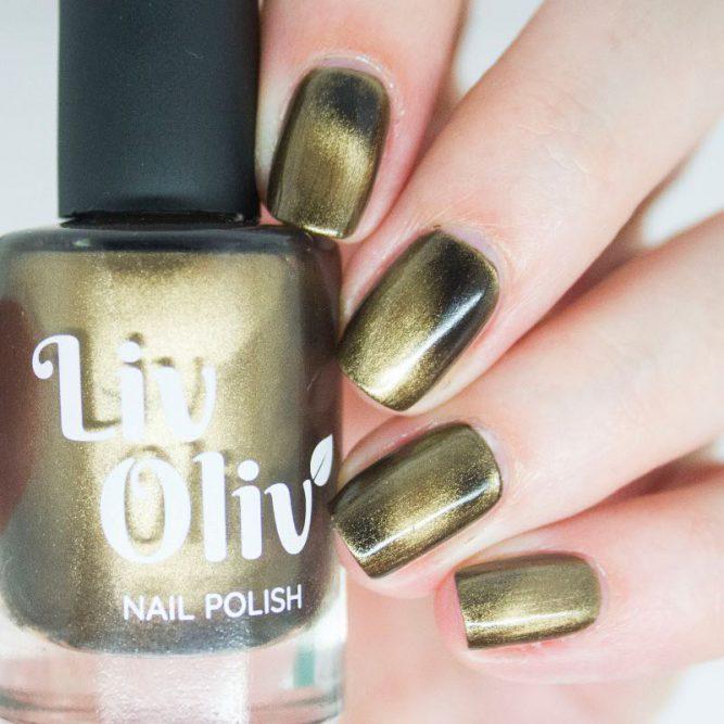 livoliv cruelty free magnetic nail polish bronze