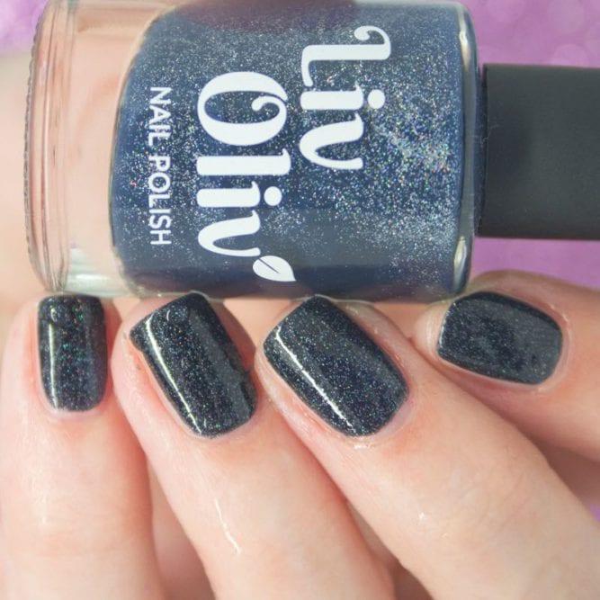 thermal cruelty free nail polish black to blue