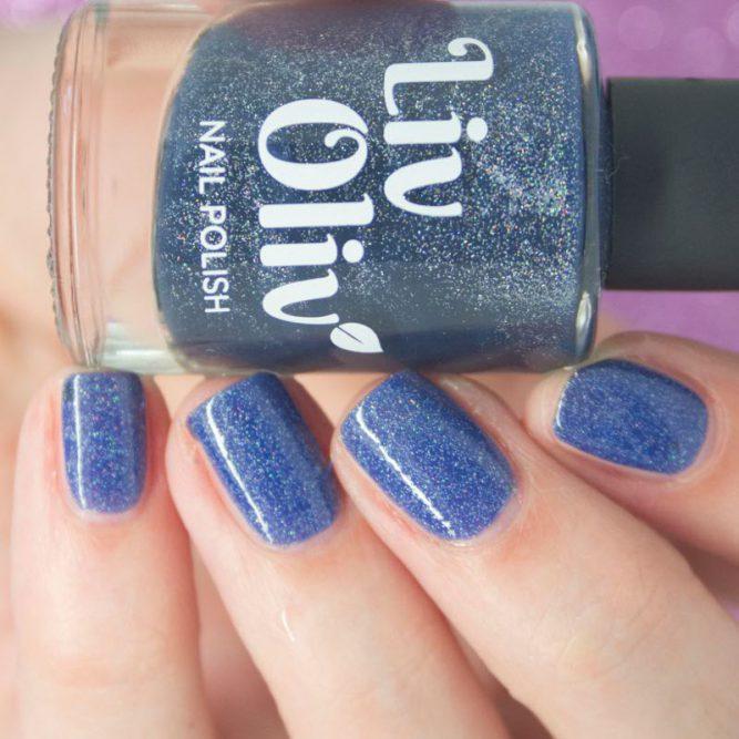 cruelty free Mystical Mayhem blue nail varnish bottle