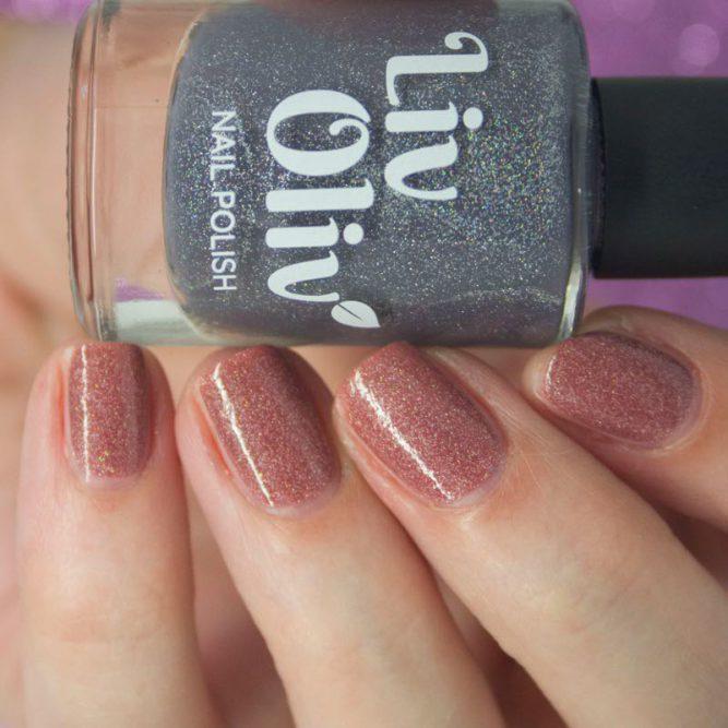 Thermal blue peach cruelty free nail polish