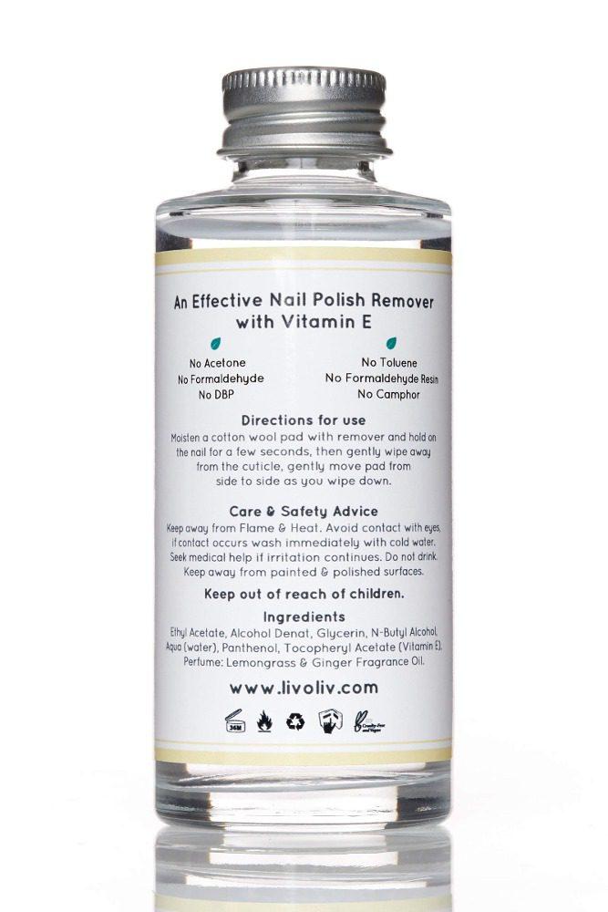 vegan, cruelty free non toxic nail polish remover