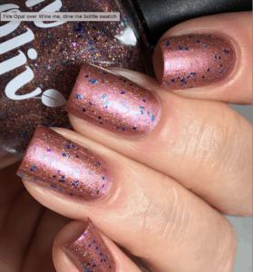 fire opal vegan nail polish